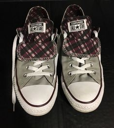 11fae3d757 CONVERSE ALL STAR CHUCK TAYLOR Double Tongue Shoes For Women US Size 10
