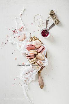 Pic: Raspberry and vanilla macarons