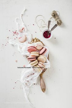 Raspberry and vanilla macarons by tanjica_1987