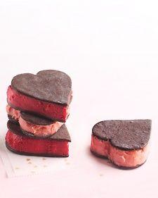 Valentine Sorbet Sandwiches - Martha Stewart