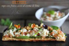 Ceviche de rape con frutos rojos Ceviche, Peruvian Cuisine, Peruvian Recipes, Tapas, Brie, Monkfish Recipes, Recipe For 4, Brunch, Food And Drink