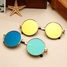 Купить товар 2016 год сбора винограда способа марка круглые солнцезащитные  очки зеркало женский Ретро круг отражающие 4f00fc4e8b183
