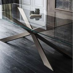 One of our best-selling tables, the Spyder was an instant success when it was introduced in 2010. The star of this soon-to-be iconic contemporary table is the base. Truly a feat of design and engineering that has been imitated but never duplicated. This modern glass and steel dining table is available with clear glass or extra clear glass top in a variety of shapes and sizes. Should you prefer a wood top, take a look at the Spyder Wood table. Another option is to supply your own top and…