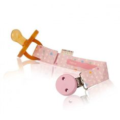 Hevea - Pacifier clip prevents pacifiers from dropping on the floor and getting dirty or lost. Eco Baby, Pacifier Holder, Pink Color, Baby Toys, Print Design, Personalized Items, Chains, Products, Chain