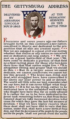 150 Years ago today Abraham Lincoln delivered America's Greatest Oracle: The Gettysburg Address. November, 19th, 1863.