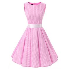 Women's 1950s Polka Dot Sleeveless Vintage Rockabilly Swi...