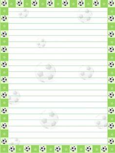printable green soccer stationery from PrintableTreats.com