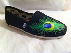 Alpha X Omega's Peacock TOMS Shoes!    http://www.etsy.com/listing/84436032/toms-shoe-peacock?ref=v1_other_2