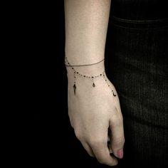 braclet tattoo  simple and elegant