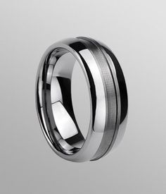 This polished shiny tungsten carbide ring is free shipping via EXPRESS worldwide.