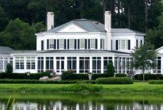 Ford Plantation Estate - near Savannah, GA Richmond Hill Georgia, Shirley Plantation, Southern Homes, Southern Charm, Greek Revival Architecture, Savannah Chat, Savannah Georgia, Home Porch, Plantation Homes