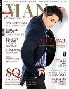 Ali Zafar on The Cover of The Man Magazine - March 2013.
