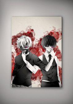 Tokyo Ghoul Kaneki Ken Anime Watercolor Print Poster 11.70 x 16.50 A3 No503