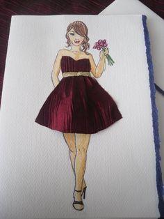 handmade bridesmaid card