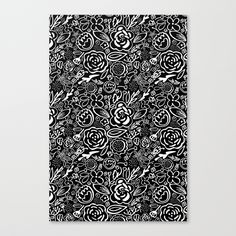 A Profusion of Flowers III Canvas Print by Noonday Design   Society6