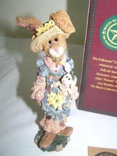 NIB Boyds Bears Folkstone Rabbit Figurine Prudence Daffodils