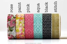 Pattern Washi Tape   CHOOSE ONE by PrettyTape on Etsy, $2.50