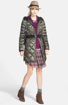 Bernardo Packable Down Coat, Caslon® Sweater & Halogen® Dress  available at #Nordstrom