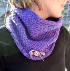 Snood au point de blé avec des aiguilles circulaires tutoriel Plus Bonnet Crochet, Crochet Baby, Knit Crochet, Crochet Scarves, Diy Clothes, Knitting, Accessories, Women, Bonnets