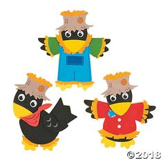 This cute and ironic little magnetic Scarecrow Crow craft kit is great for kids to put together in the fall! Everything you need is included in each individual kit, including self-adhesive foam pieces, a magnet, and instructions. Fall Art Projects, Classroom Art Projects, Craft Kits For Kids, Halloween Crafts For Kids, Kindergarten Crafts, Preschool Crafts, Kids Crafts, Fall Preschool, Preschool Ideas