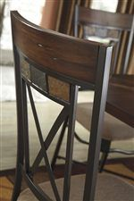signature design by ashley vinasville dining room table w metal legs octagon shape top - Octagon Kitchen Table