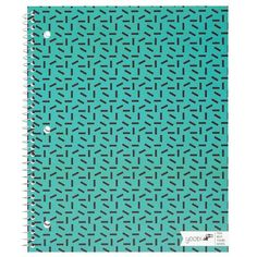 1 Subject Spiral Notebook, College Ruled - Aqua Sprinkles