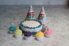 Cupcake Birthday Candle / Cake Topper by PowderPointCoastal