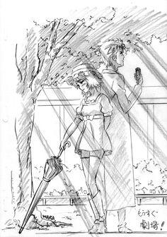 Steins;Gate key animatorFujiwara Yoshikazu (藤原巧和) draws this tribute illustration for the movie,Steins;Gate Fuka Ryouiki no Déjà vu(劇場版 シュタインズ・ゲート 負荷領域のデジャヴ)featuring Okabe Rintarou and Shiina Mayuri standing together in the sunlight.