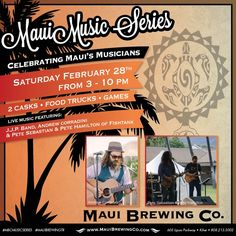 This is shaping up to be the event of the month!  #MBCmusicSeries #MauiBrewingTR
