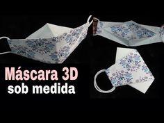 máscara 3D NOVA VERSÃO l SOB MEDIDA - molde l fácil l masque de protection l Face Mask - YouTube Easy Face Masks, Diy Face Mask, Sewing Hacks, Sewing Projects, 3 D, Make It Work, How To Make, Nose Mask, Diy Mask