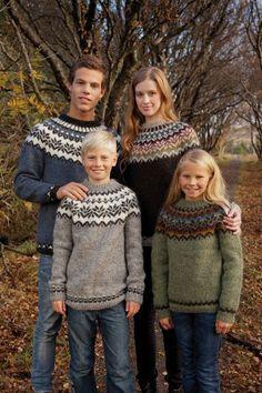 Baby Knitting Patterns combine Free knitting pattern for Amaelfi Icelandic Sweater for the Family – Védís Jó… Fair Isle Knitting Patterns, Sweater Knitting Patterns, Knitting Designs, Knit Patterns, Craft Patterns, Knitting For Kids, Free Knitting, Knitting Books, Knitting Kits