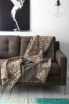 Magical Thinking Leopard Kantha Throw Blanket - Urban Outfitters