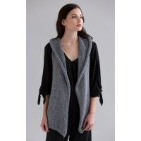 Joan Hooded Vest in Portofino Knitting Pattern - Patterns - Knitting | InterweaveStore.com