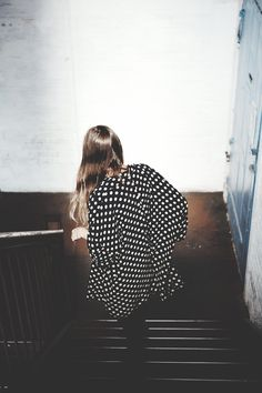 oversized polka dot dress #style #fashion