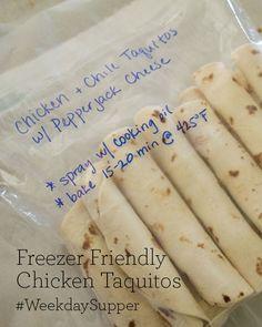 Freezer Friendly Chicken Taquitos #WeekdaySupper