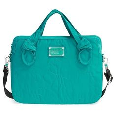 MARC BY MARC JACOBS 'Pretty Nylon - Computer Commuter' Bag ($118) ❤ liked on Polyvore featuring bags, handbags, shoulder bags, rip tide, oversized shoulder bag, laptop shoulder bag, oversized purse, oversized handbag and marc by marc jacobs handbags