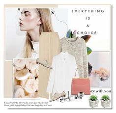"""""""Everything is a choice"""" by aane1aa ❤ liked on Polyvore featuring The Row, Jil Sander, Nicholas Kirkwood, Mansur Gavriel and Illesteva"""