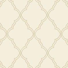 Candice Olson Moroccan Lattice Sand Wallpaper