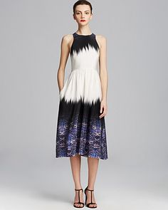 Tibi Dress - Ibis Silk Bordered Crossback | Bloomingdale's
