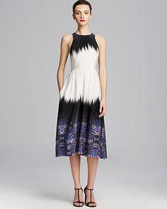 Tibi Dress - Ibis Silk Bordered Crossback   Bloomingdale's