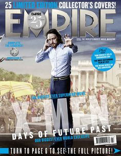"James McAvoy as Charles Xavier: | All 25 ""X-Men: Days Of Future Past"" Covers From Empire Magazine"