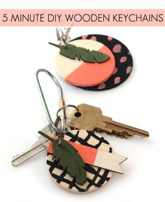 5 Minute DIY Wooden Keychains