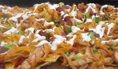 *Barbecue Chicken Nachos