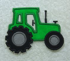 Tractor Fabric Embroidered Iron on Applique Patch Ready to Ship by TheAppliquePatch on Etsy