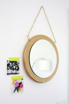 """While we still have a lot of """"big picture"""" projects left to work on at our new house, there are a few spots where I can start to do the fun little filler projects. I had a big brass mirror that hung i"""