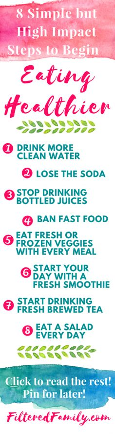 Eight Simple but High Impact Steps to Begin Eating Healthier #Infographics