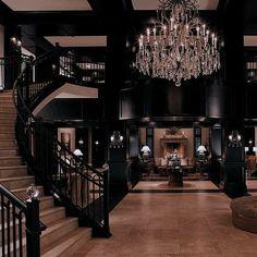 Dream House Interior, Luxury Homes Dream Houses, Dream Home Design, Modern House Design, My Dream Home, Mansion Interior, Gothic Interior, Future House, Dark House