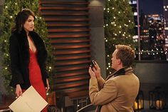 Robin and Barney, How I Met Your Mother: Barney has used his trusty playbook to swindle many, many women, but he pulls his best play of all time on Robin. His elaborate scheme goes on for months (and involves Robin's least favorite person, Patrice), but it ends in a perfectly romantic and unexpected rooftop proposal.
