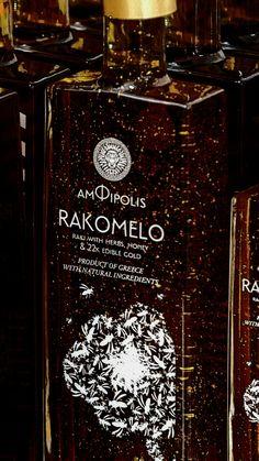 Rakomelo by night, Greece | Amfipolis Amphipolis raki with honey and edible gold