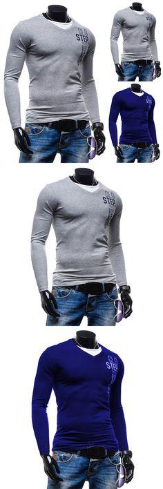 New Autumn Fashion Brand Men Clothes Slim Fit Men Long Sleeve T Shirt Men Casual Shirt Social Plus Size M-2XL